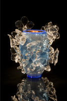 Silvered Blue Venetian with Ice Flowers by Dale Chihuly