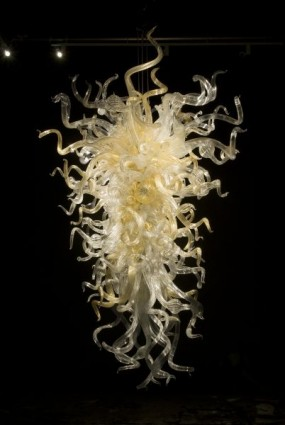 <i>Clear and Gold Chandelier, 2008</i>