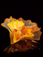 <i>Fiesta Persian Set<br />with Obsidian Lip Wraps,</i> 2000 by Dale Chihuly