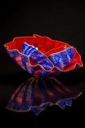 <i>Carmine Pheasant Macchia Set<br/>with Sun Lip Wraps</i>, 2015 by Dale Chihuly