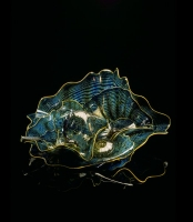 Beryl Blue Persian Set with Buttercup Lip Wraps by Dale Chihuly