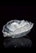 <i>Icy White Seaform Set with Carbon Lip Wraps</i>, 2001 by Dale Chihuly