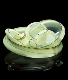 Iceberg Green Basket Set with Oxblood Lip Wraps