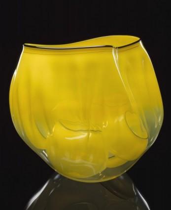 Yellow Ribbon Basket Set with Slate Lip Wraps