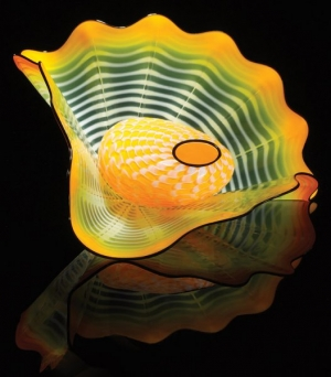 Mandarin Yellow Persian 2016 Studio Edition by Dale Chihuly