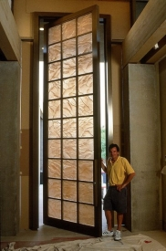 Cast Mural Door