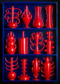 Blue with Red Vessel Display