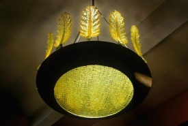 Green Leaf Chandelier