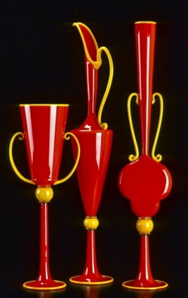 Red Vessels with Yellow