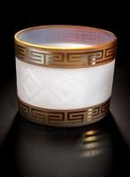 White and Gold Basket by Preston Singletary