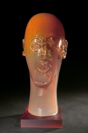 Head as Egg Variegated Amber