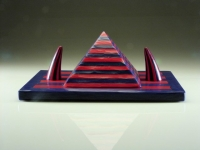 Blue and Red Pyramid with Two Horns by Richard Marquis