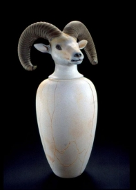 Canopic Jar: Dahl Sheep by William Morris