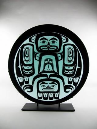Eagle Drum by Preston Singletary