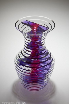Polished Plate Glass Vase 32/13