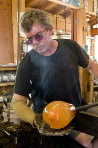 Glass Artist Peter Wright